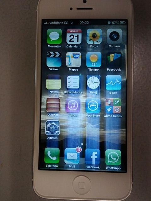 Полоски экране айфона 4s