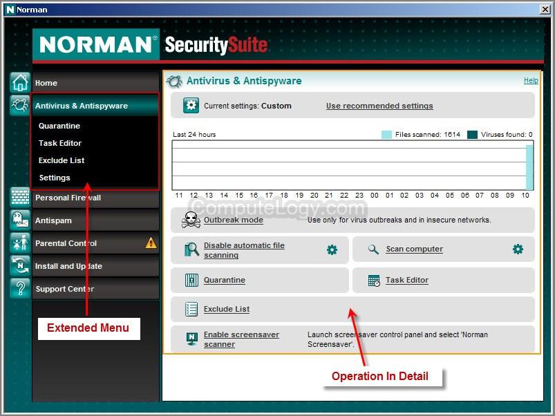 Norman Security Suite Скриншоты - Лицензионные и бесплатные антивирусы, ант