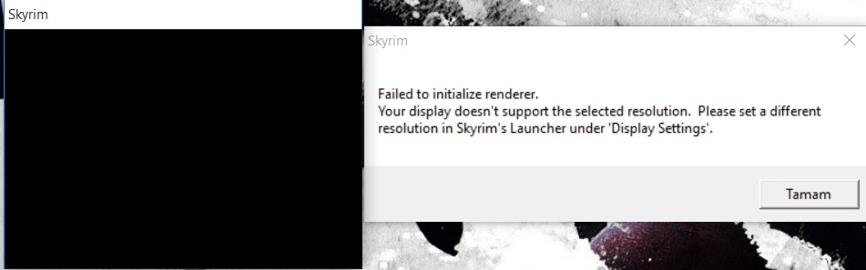 Failed to initialize renderer (SOLVED) :: The Elder ...