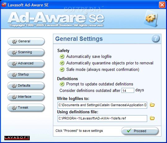Lavasoft ad-aware se personal edition 1. 06.